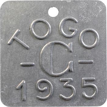 Togo, plaque de taxe, C, 1935