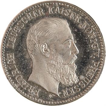 Allemagne, Prusse (royaume de), Frédéric III, cliché uniface au module de 20 mark, s.d