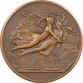 Russie/France, Second Empire, la prise de Bomarsund le 16 août, par Caqué, 1854 Paris (refrappe)