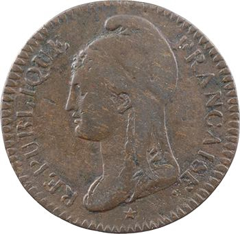 Convention, essai de 25 centimes Dupré, An 3 (1794-1795) Paris