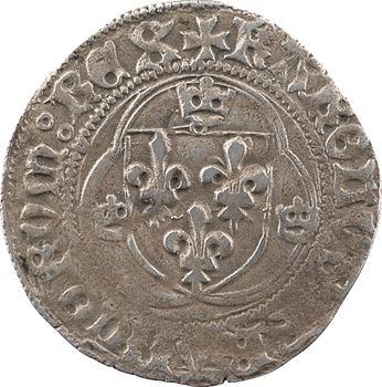 Charles VIII, blanc à la couronne (annelets/annelets), cantonnement inversé, Châlons-en-Champagne