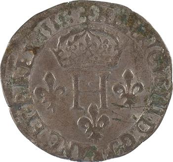 Henri III, double sol parisis, 2e type, 1581 Lyon