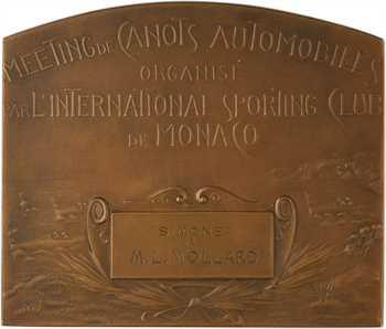 Monaco, Monte-Carlo, meeting de canots automobiles, par Szirmaï, 1911-1912 Paris