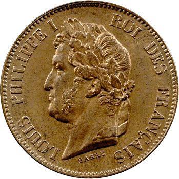 Louis-Philippe Ier, essai de 5 centimes, refonte des monnaies de cuivre, 1847 Pa