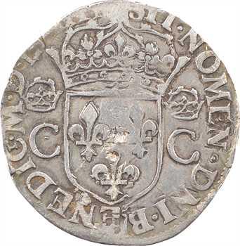 Charles IX, teston 2e type, 1563 Troyes