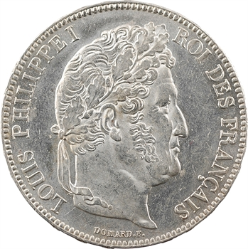 Louis-Philippe Ier, 5 francs IIe type Domard, 1839 Rouen