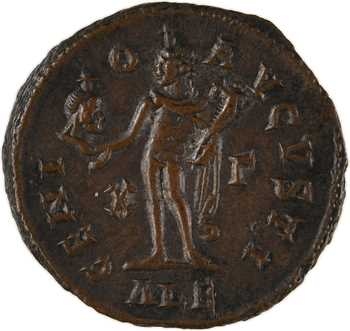 Maximin II Daia, follis réduit, Alexandrie, 3e officine, 309-310
