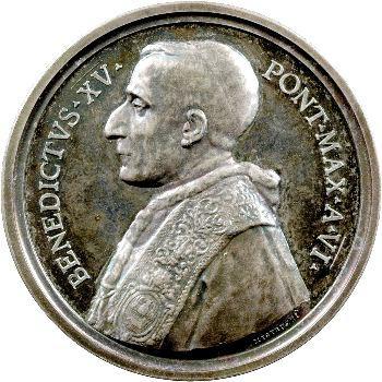 Vatican, Benoît XV, médaille annuelle, Trois Saints, 1920