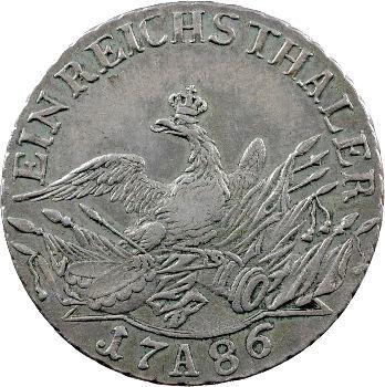 Allemagne, Brandenburg-Prusse (royaume de), Frédéric-Guillaume II, Thaler, 1786 Berlin