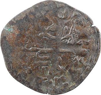 Aquitaine (duché d'), Édouard III, double au léopard sous une couronne, s.d