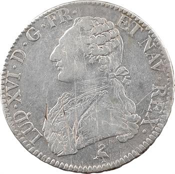 Louis XVI, écu aux rameaux d'olivier, 1775, 2d semestre, Paris
