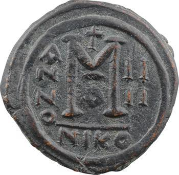 Tibère II Constantin, follis, Nicomédie, 1re officine, An IIII = 578-579