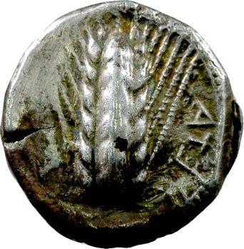 Lucanie, Métaponte, didrachme, 550-450 av. J.-C.