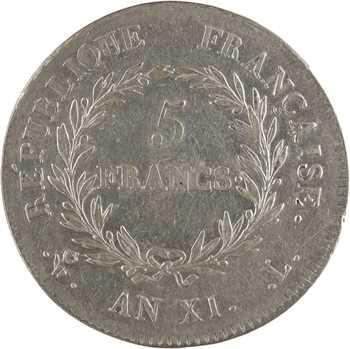 Consulat, 5 francs, An XI Bayonne