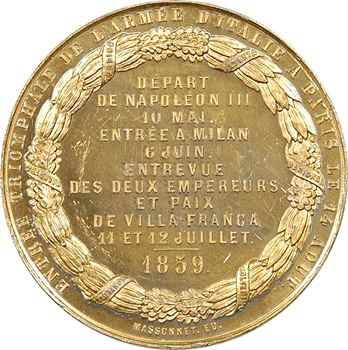 Second Empire/Italie, la paix de Villa Franca, 1859 Paris