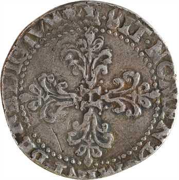 Henri III, demi-franc au col fraisé, 1579 Bordeaux