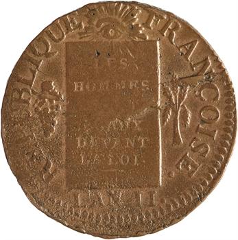Convention, sol aux balances, 1793 Strasbourg