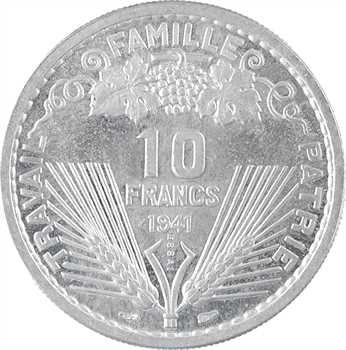 État français, essai de 10 francs Pétain par Vézien, 1941 Paris