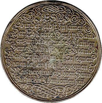Allemagne, médaille de mariage, XVIIe s.