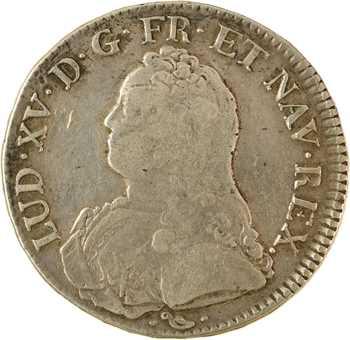 Louis XV, écu aux rameaux d'olivier, 1734 Bayonne