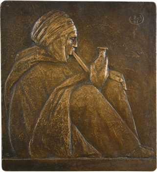 Pommier (A.) / Algérie : Le fumeur de kif, fonte N° 5, s.d
