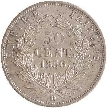 Second Empire, 50 centimes tête nue, 1856 Lyon