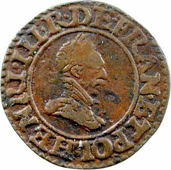 Henri III (sous la Ligue), denier tournois, Paris