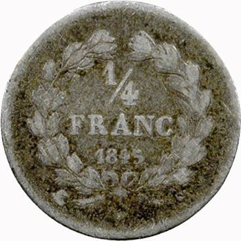Louis-Philippe Ier, 1/4 franc, 1845 Paris