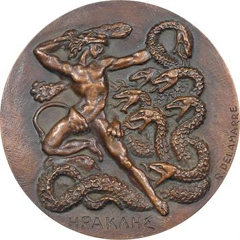Delamarre (R.) : Héraclès (Hercule combattant les forces du mal), fonte, s.d. (1965) Paris, SFAM N° 26