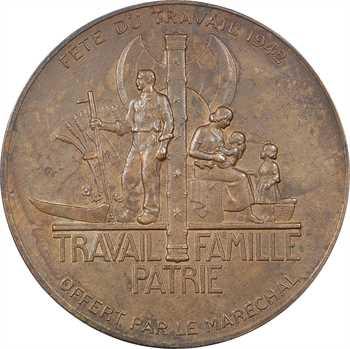 IIe Guerre Mondiale, le Maréchal Pétain et la Fête du Travail, par Pierre Turin, 1942 Paris