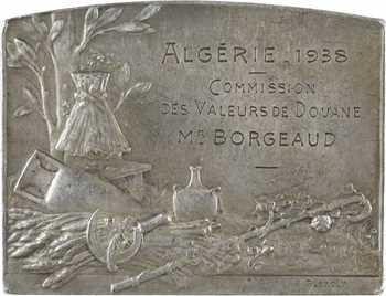 Algérie, Bucolique, par Lenoir, Commission des valeurs de douane, 1938 Paris