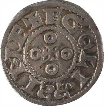 Angoulême (comté d'), denier immobilisé au nom de Louis IV, s.d. (fin du Xe s. – début du XIe s.)