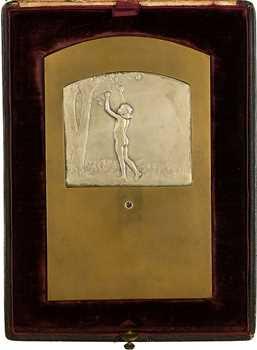 Baudichon (R.) : plaque de noces de diamant, 50 ans de mariage, 1859-1919 Paris (Canale)