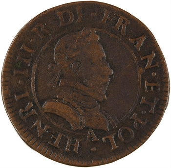 Henri III, double tournois 1er type, s.d. Paris