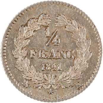 Louis-Philippe Ier, 1/4 franc, 1841 Bordeaux