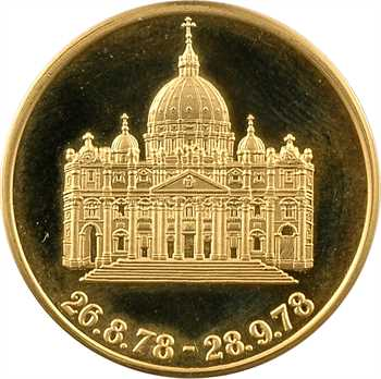Vatican, Jean-Paul Ier, médaille en or PROOF, 1978