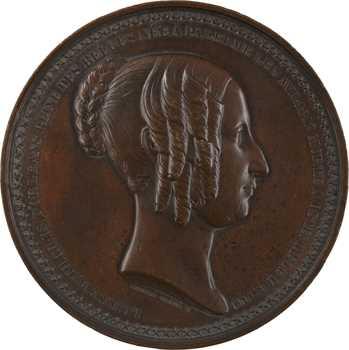 Belgique, la mort de Louise-Marie d»Orléans à Ostende, par Wiener, 1850 Bruxelles