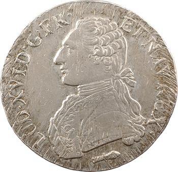 Louis XVI, écu aux rameaux d'olivier, 1785 Perpignan