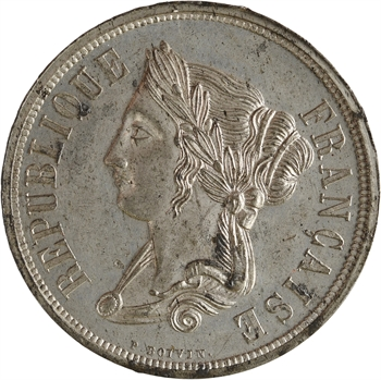 IIe République, concours de 5 francs par Boivin, 1848 Paris