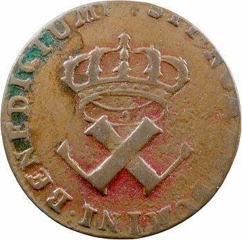 Louis XV, 9 deniers des colonies américaines, 1722 La Rochelle
