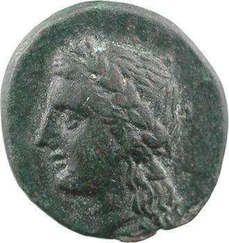 Lucanie, Métaponte, obole en bronze, c.350-300 av. J.-C.