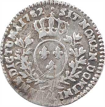 Louis XVI, dixième d'écu aux branches d'olivier, 1782 Metz