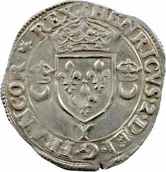 Henri II, douzain aux croissants, 1550 Bourges