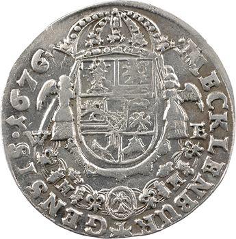 Allemagne, Mecklembourg-Schwerin (grand duché de), Christian-Louis Ier, 2/3 de thaler, 1676 Dömitz