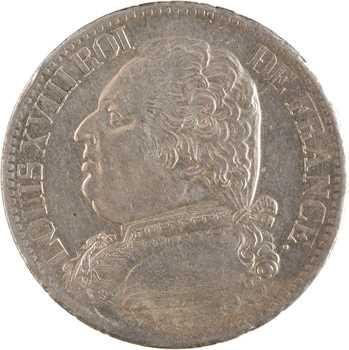Louis XVIII, 5 francs buste habillé, 1815 Toulouse