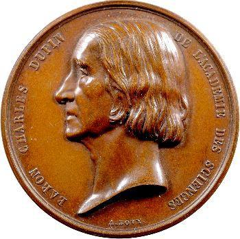 Second Empire, le Baron Charles Dupin nommé sénateur, par Bovy, 1852 Paris