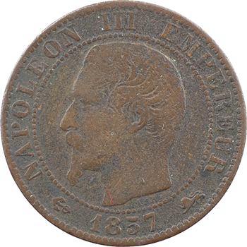 Second Empire, cinq centimes tête nue, 1857 Lyon