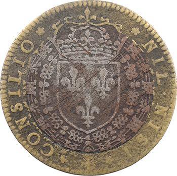 Conseil du Roi, Henri IV, jeton bimétallique, 1596 Paris