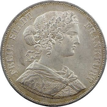 Allemagne, Francfort (ville libre de), double thaler, 1866 Francfort