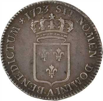 Louis XV, tiers d'écu de France, 1723 Paris